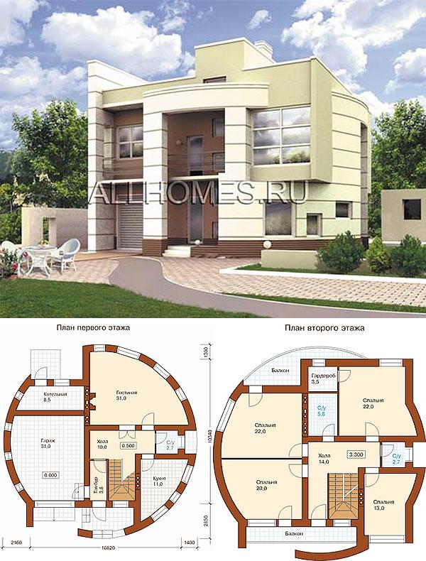 Проект дома в стиле Европейский хай-тек