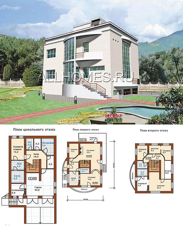 Проект респектабельного дома в стиле хай-тек