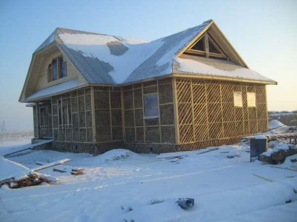 Морозоустойчивый дом из глины и соломы