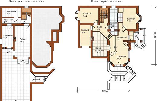 Внутренняя планировка дома на склоне