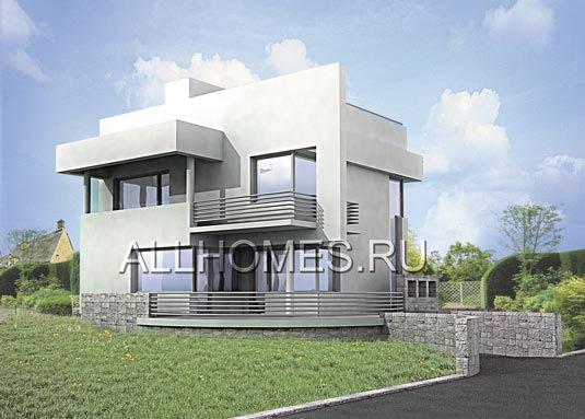 Ультрасовременный дом, стоящий на склоне