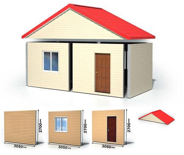 Доступные проекты домов из сэндвич-панелей. Быстро и дешево