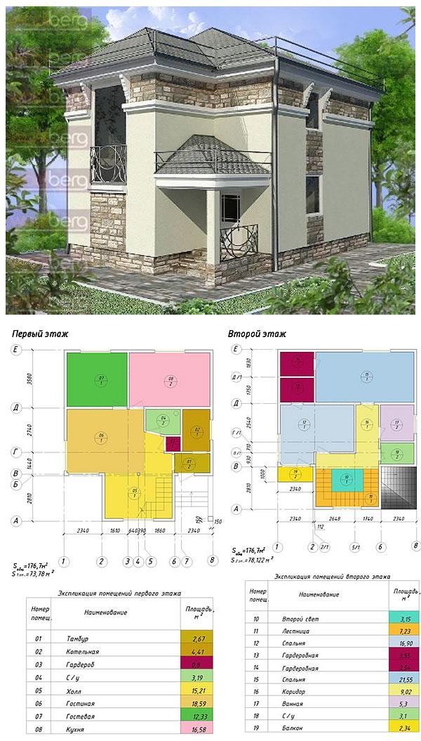 Проект дома из сендвич-панелей «Греция»