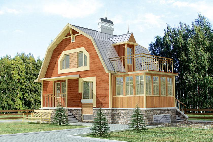 Проект дома для маленького участка