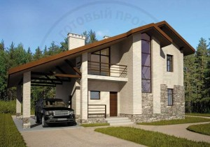 Подборка проектов домов с навесом