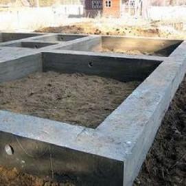 Ленточный фундамент под каркасный дом