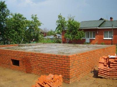 Фото фундамента под кирпичный дом