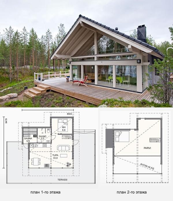 Проект финского дома из клееного бруса