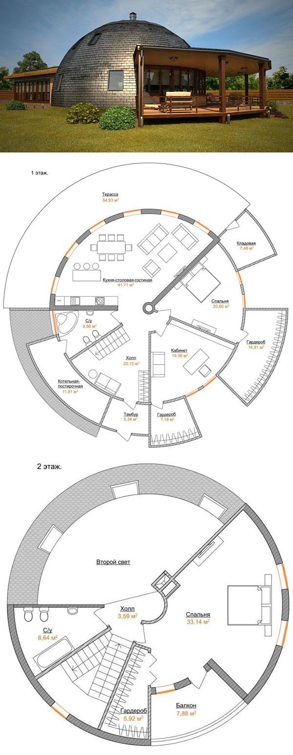 Проект стратодезического купольного дома