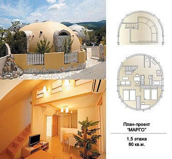 Проект купольного дома по полистирольной технологии